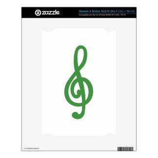 Treble Clef Skin For The NOOK