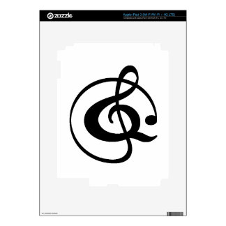 Treble clef skins for iPad 3
