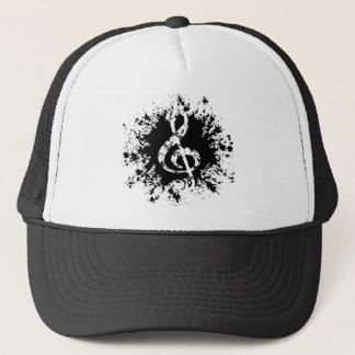 Treble Clef Splat Trucker Hat