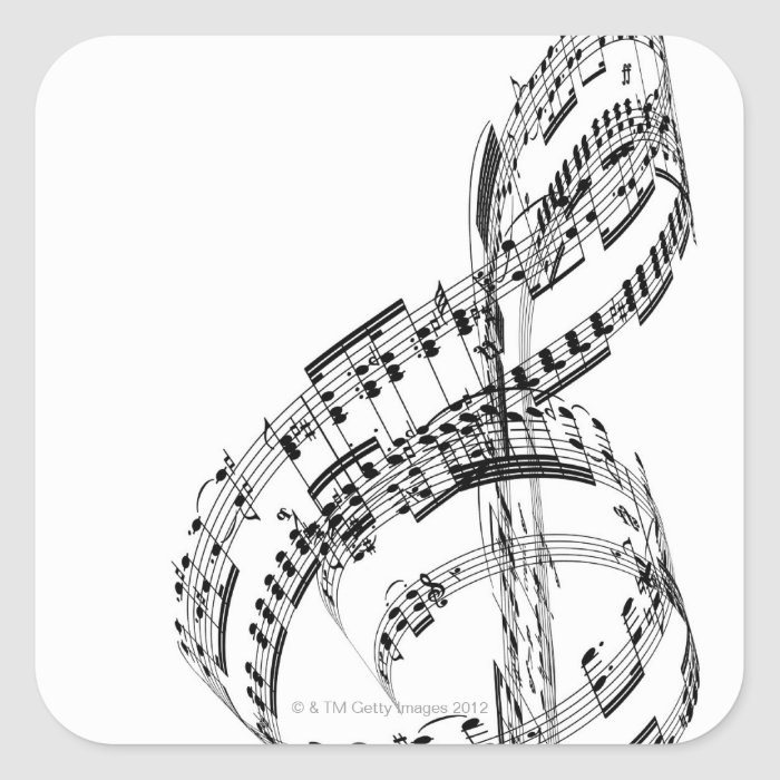 Treble Clef Square Sticker