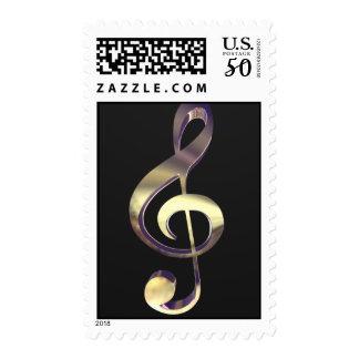 Treble Clef Stamp