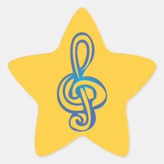 Treble Clef Star Sticker
