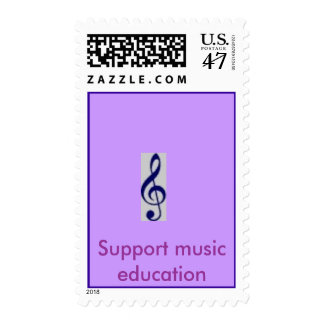 Treble Clef, Support music education Postage