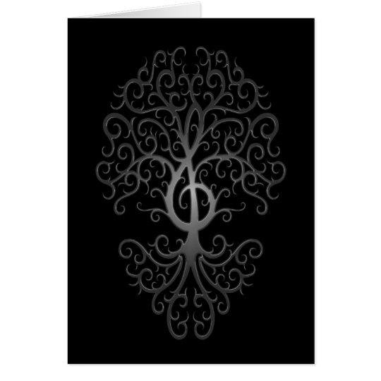 Treble Clef Tree, dark Card
