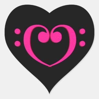 Treble Clef Valentine Heart Heart Sticker