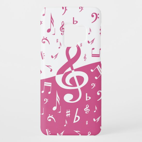 Treble Clef Wave Music Notes in Pink and White Case-Mate Samsung Galaxy S9 Case