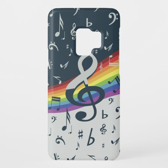 Treble Clef Wave Rainbow Colors Case-Mate Samsung Galaxy S9 Case