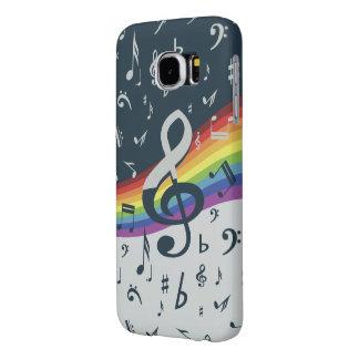 Treble Clef Wave Rainbow Colors Samsung Galaxy S6 Case