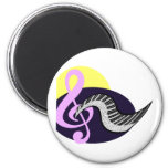 Treble Clef with keyboard graphic Refrigerator Magnet