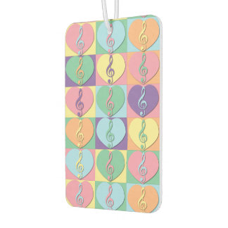 Treble Clefs and Hearts Air Freshener