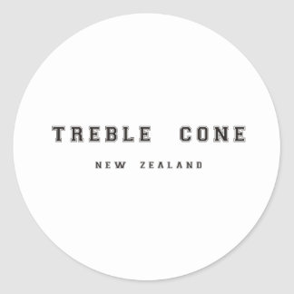 Treble Cone New Zealand Classic Round Sticker