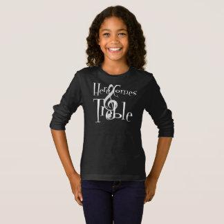 Treble Girl's Dark Long Sleeve T-Shirt