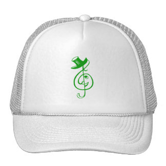 treble green clef face top hat music design.png