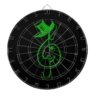 treble green clef face top hat music design.png dartboard