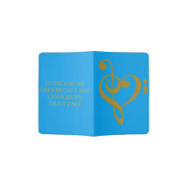 Treble Heart Semi Colon Passport Cover
