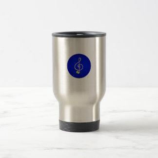 Treble horn clef pink Blue circle Mug