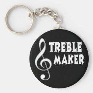 Treble Maker Basic Round Button Keychain