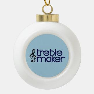 Treble Maker Ceramic Ball Christmas Ornament