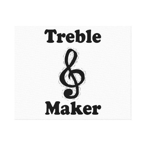 treble maker clef black funny music design gallery wrapped canvas
