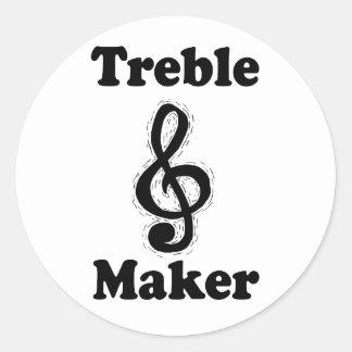 treble maker clef black funny music design sticker