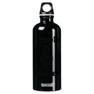 treble maker clef black funny music design water bottle