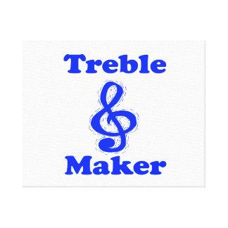 treble maker clef blue music design canvas print