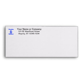 treble maker clef blue music design envelope