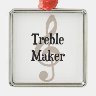 Treble Maker Clef Musical Trouble Maker Christmas Ornament