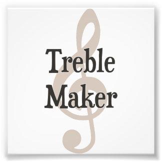 Treble Maker Clef Musical Trouble Maker Photo Print