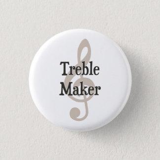 Treble Maker Clef Musical Trouble Maker Pinback Button
