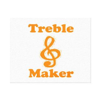 treble maker clef orange funny music design canvas print