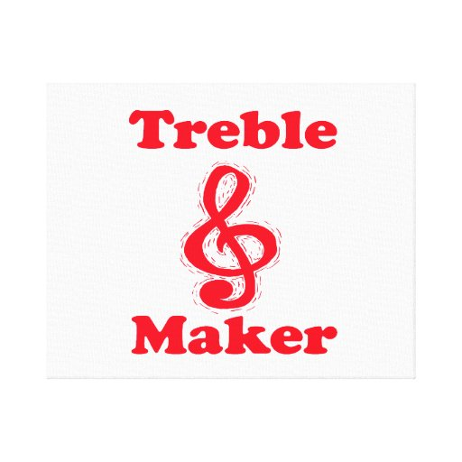 treble maker clef red music design gallery wrapped canvas