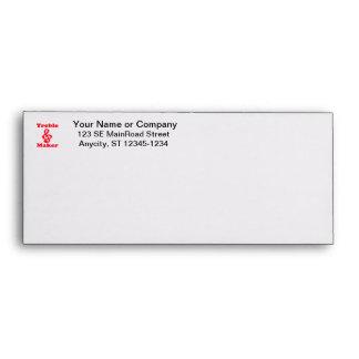 treble maker clef red music design envelope