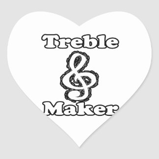 treble maker clef white blk outline music humour heart stickers