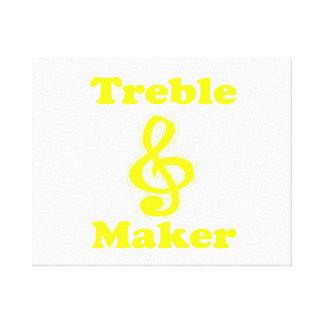 treble maker clef yellow funny music design canvas print