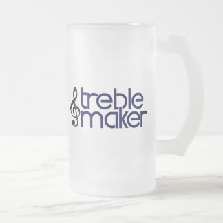 Treble Maker Frosted Glass Beer Mug