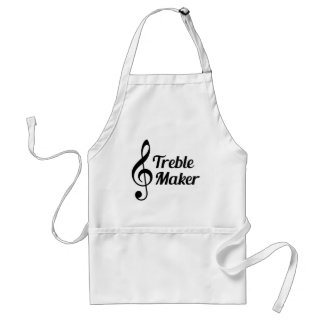 Treble Maker Musical Humour Adult Apron