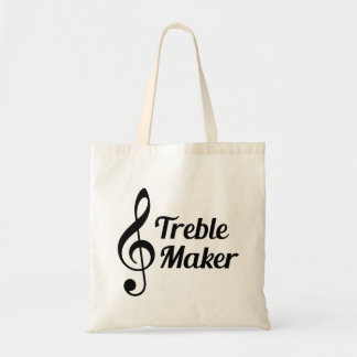 Treble Maker Musical Humour Tote Bag