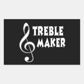 Treble Maker Rectangular Sticker