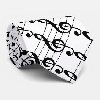 Treble musical note Tie