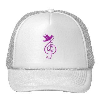 treble purple clef face top hat music design.png