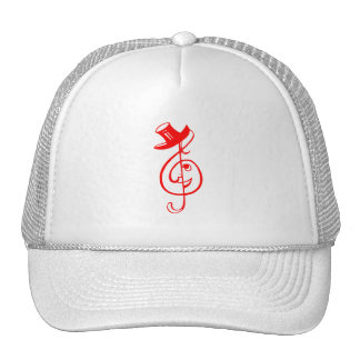 treble red clef face top hat music design.png