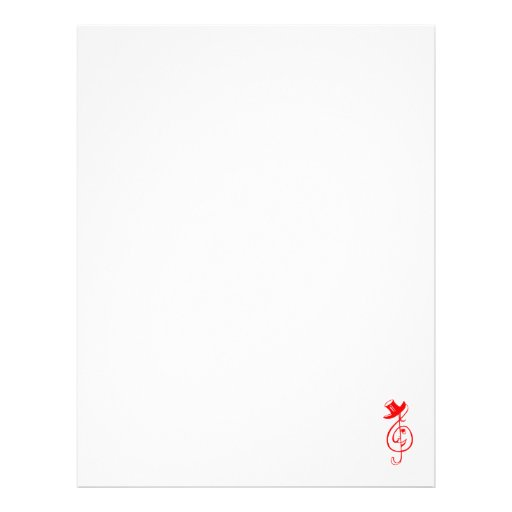 treble red clef face top hat music design.png letterhead