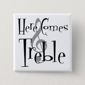 Treble Square Button