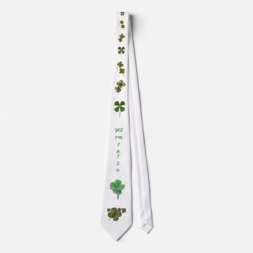 trébol 7, four-leaf-clover-1, cuatro-le de cuatro  corbata