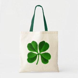 Trébol afortunado de 4 hojas bolsa tela barata