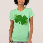 Trébol afortunado de cuatro hojas camiseta