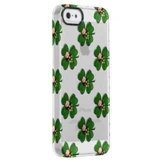 Trébol afortunado de cuatro hojas con la mina de funda clearly™ deflector para iPhone 5 de uncommon
