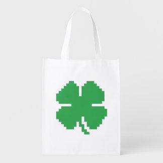 Trébol afortunado de cuatro hojas del pixel de 8 bolsas de la compra