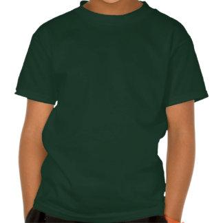Trébol afortunado de herradura de oro de cuatro camiseta